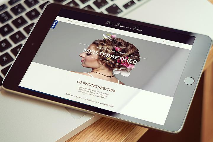 Die Friseure Neuss Website ackermanndesign